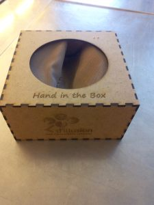 Mini hand in the box